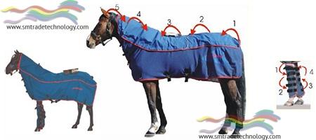 Coperta per Magnetoterapia dei Cavalli