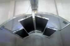 Solarium In Acciaio Inox con Pannelli Infrarossi  a Basso Consumo Energetico BLU-FLOW