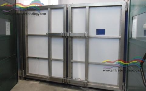 BOX PER ANESTESIA RISVEGLIO GRANDI ANIMALI – Struttura Porte e Imbottitura Completa